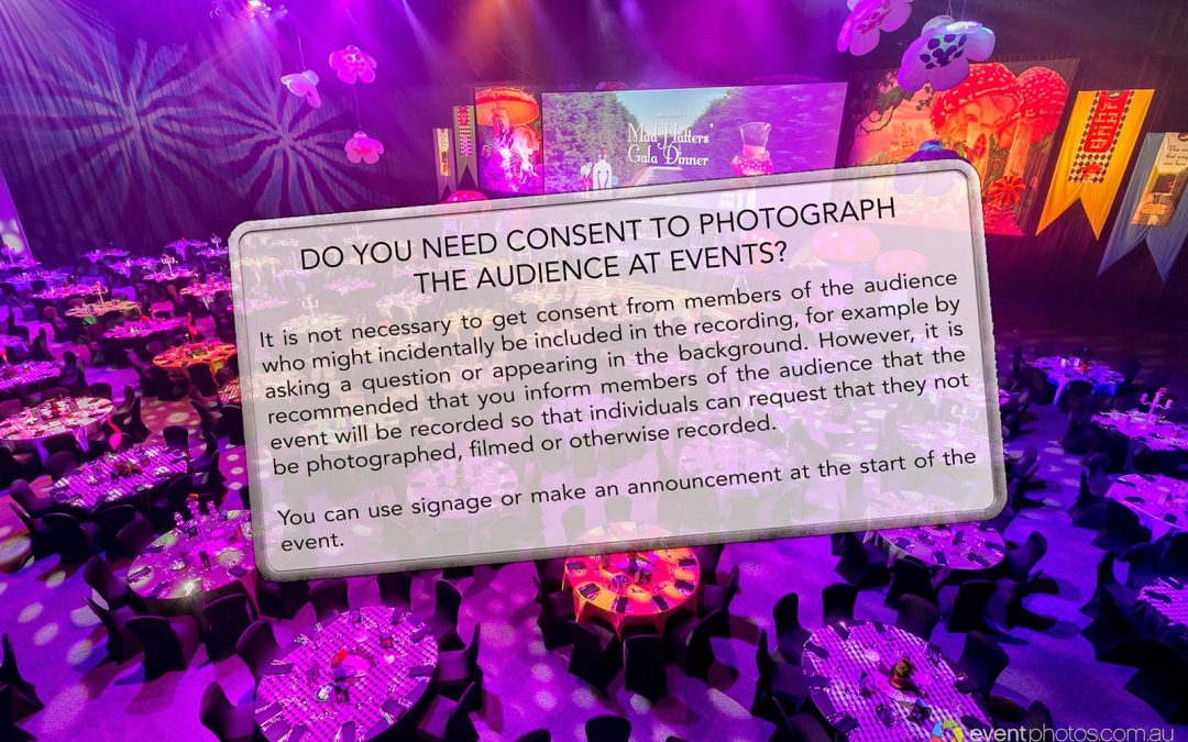 Do you need consent from guests at an event