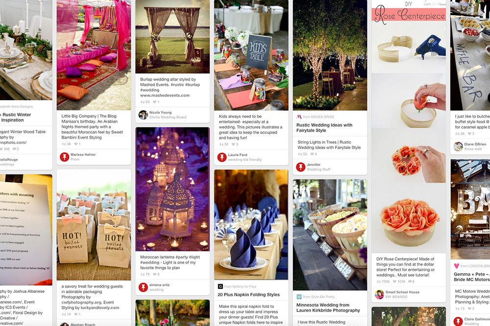 Pinterest for event photography brief
