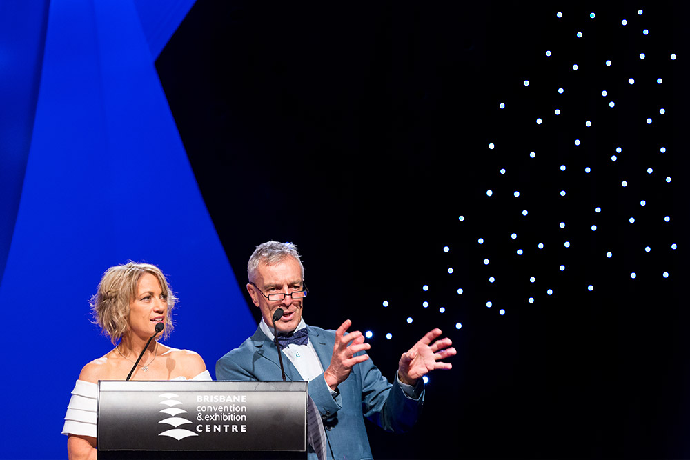 Loretta Ryan and Ian Skippen at Brisbane convention and exhibition centre