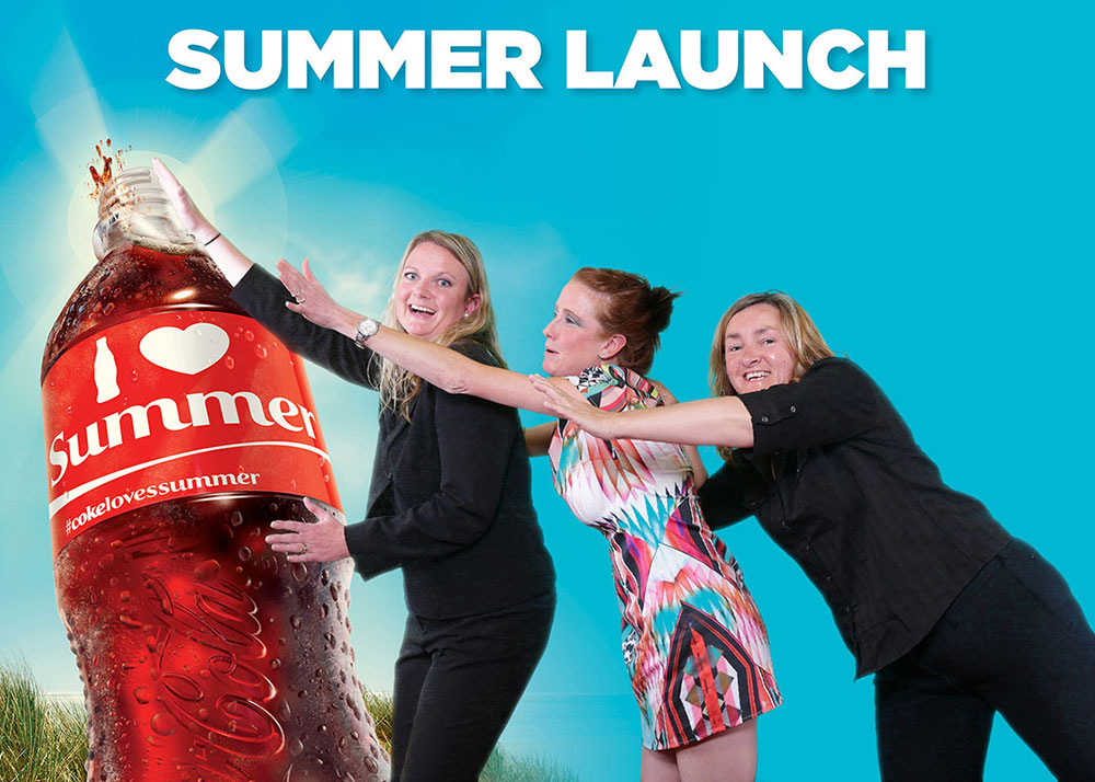 Coca Cola AFL Green screen photography