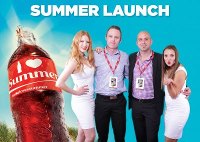 Coca Cola AFL Green screen activation