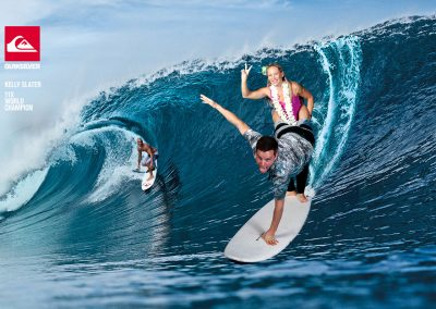 Quiksilver surf green screen